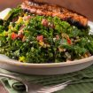 Pan-Seared Salmon with Kale and Apple Salad