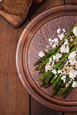 Roasted Asparagus Salad with Feta Cheese